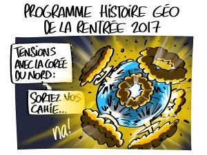 Le programme d'histoire géo de la rentrée 2017