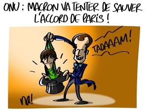 ONU : Macron va tenter de sauver l'accord de Paris