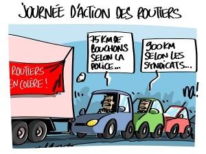Journée d'action des routiers