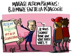 Mariage Alstom-Siemens, Bruno Le Maire fait de la pédagogie