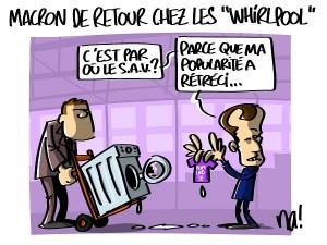 Macron de retour chez les «whirlpool»