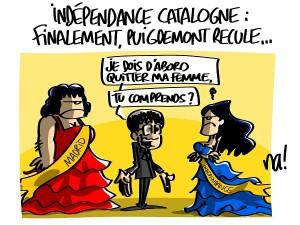 Catalogne, Puigdemont recule