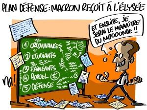 Plan défense : Macron reçoit à l'Elysée