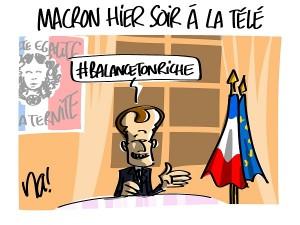 Macron hier soir sur TF1