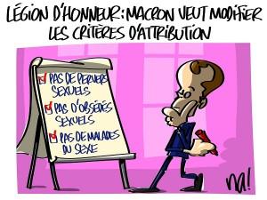 Macron veut réformer la légion d'honneur