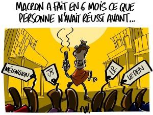 Macron, 6 mois de présidence