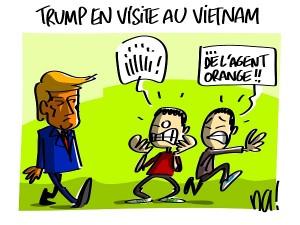 Trump en visite au Vietnam