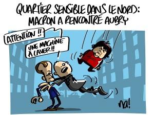Macron dans les quartiers sensibles du Nord