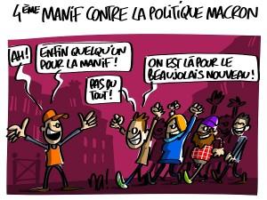 4ème manif contre la politique Macron
