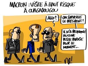 Macron : visite à haut risque à Ouagadougou