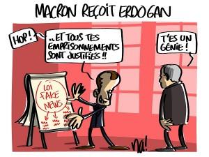 Macron reçoit Erdogan