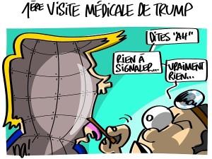 Trump à la visite médicale