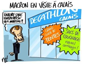 Macron en visite à Calais