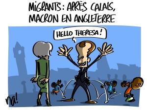 Migrants : après Calais, Macron en Angleterre
