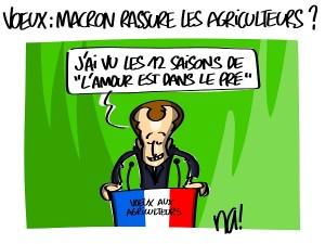Les voeux de Macron aux agriculteurs