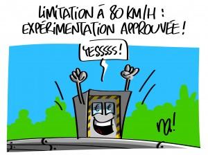 Expérimentation à 80km/h approuvée
