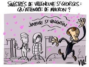 Macron et les inondés de Villeneuve St Georges