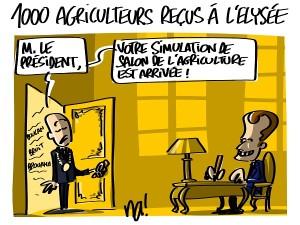 1000 agriculteurs à l'Elysée