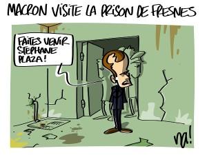 Macron visite la prison de Fresnes