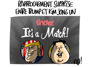 Historique : rapprochement surprise entre Trump et Kim Jong Un
