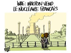 Inde : Macron vend le nucléaire français