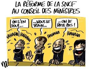 la réforme de la SNCF au conseil des ministres