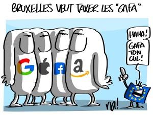 Bruxelles veut taxer les «gafa»