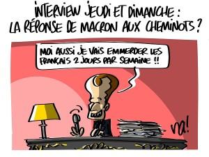 deux interviews de Macron cette semaine