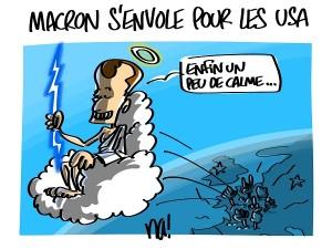 Macron s'envole pour les USA