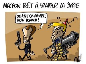 Macron prêt à frapper en Syrie