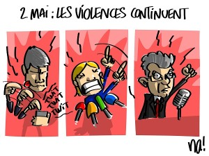 2 mai, les violences continuent