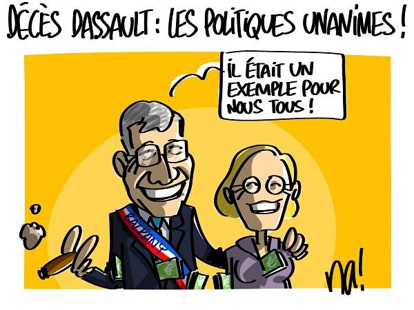 Le dessin du jour (humour en images) - Page 16 2305_décès_dassault