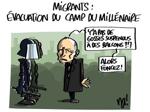 Migrants : évacuation du camp du millénaire