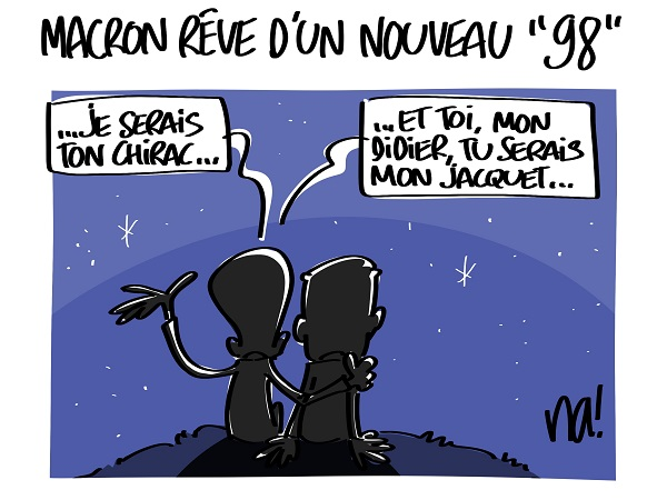 Le dessin du jour (humour en images) - Page 16 2310_macron_rêve_dun_nouveau_98