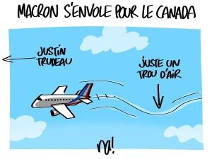 Macron s'envole pour le Canada