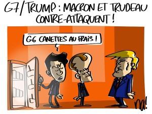 G7-Trump : Macron et Trudeau contre-attaquent
