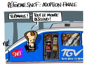 Réforme SNCF, adoption finale