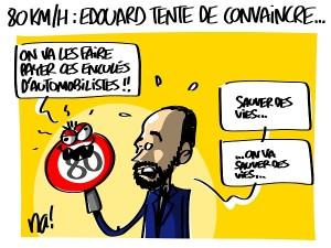 80kmh, Edouard Philippe tente de convaincre