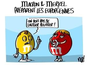 Macron et Merkel préparent les européennes