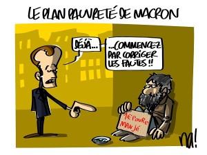Le plan pauvreté de Macron
