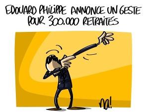 Edouard Philippe annonce un geste pour 300.000 retraités