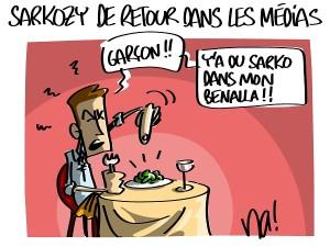Sarkozy de retour dans les médias