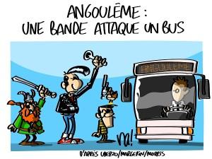 Angoulême : une bande attaque un bus
