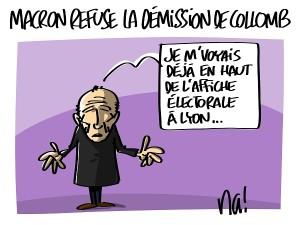Macron refuse la démission de Gérard Collomb