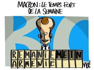 Macron : le temps fort de la semaine