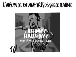 L'album de Johnny déjà disque de platine