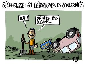 Sécheresse : 61 départements concernés