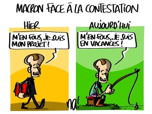 Macron face à la contestation