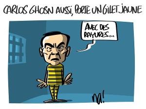 Carlos Ghosn aussi, porte un gilet jaune