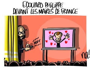 Edouard Philippe devant les maires de France